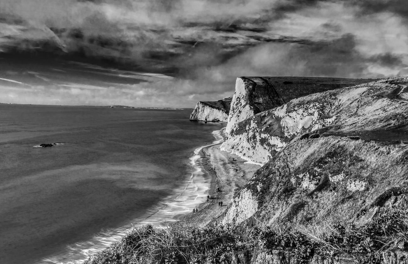 Dorset UK Jurassic coast near Durdle Door