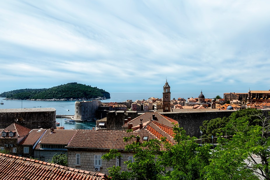 Dubrovnik is on the Adriatic Sea in southern Croatia. Its biggest claim to fame among tourists is...