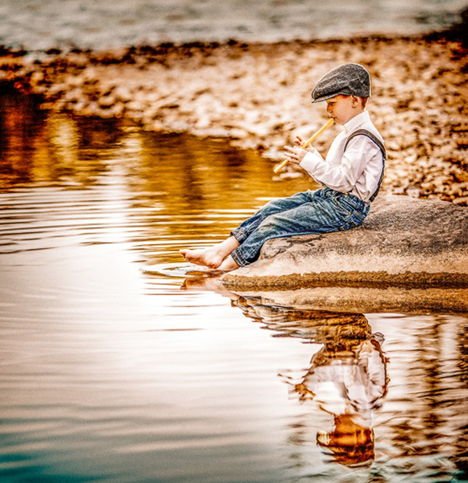 Reflections Of The Boy Whistler by mamamangan - Sitting In Nature Photo Contest