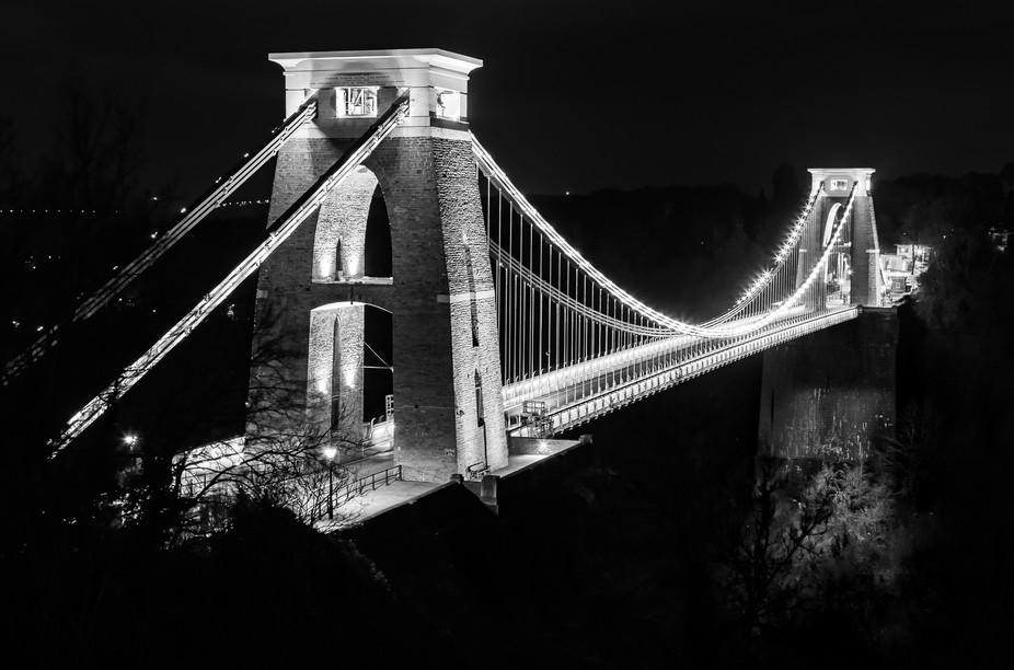 Clifton suspension bridge over the Avon Gorge in Bristol, UK.