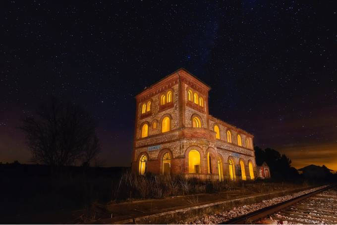 Abandoned station by Gondyc - Night Wonders Photo Contest