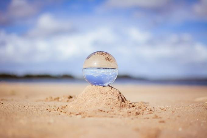 calming lensball by schrammy - Covers Photo Contest Vol 48