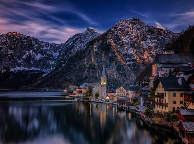 Hallstatt - A Moment in Time by StefanLueger - The Night And The Mountains Photo Contest