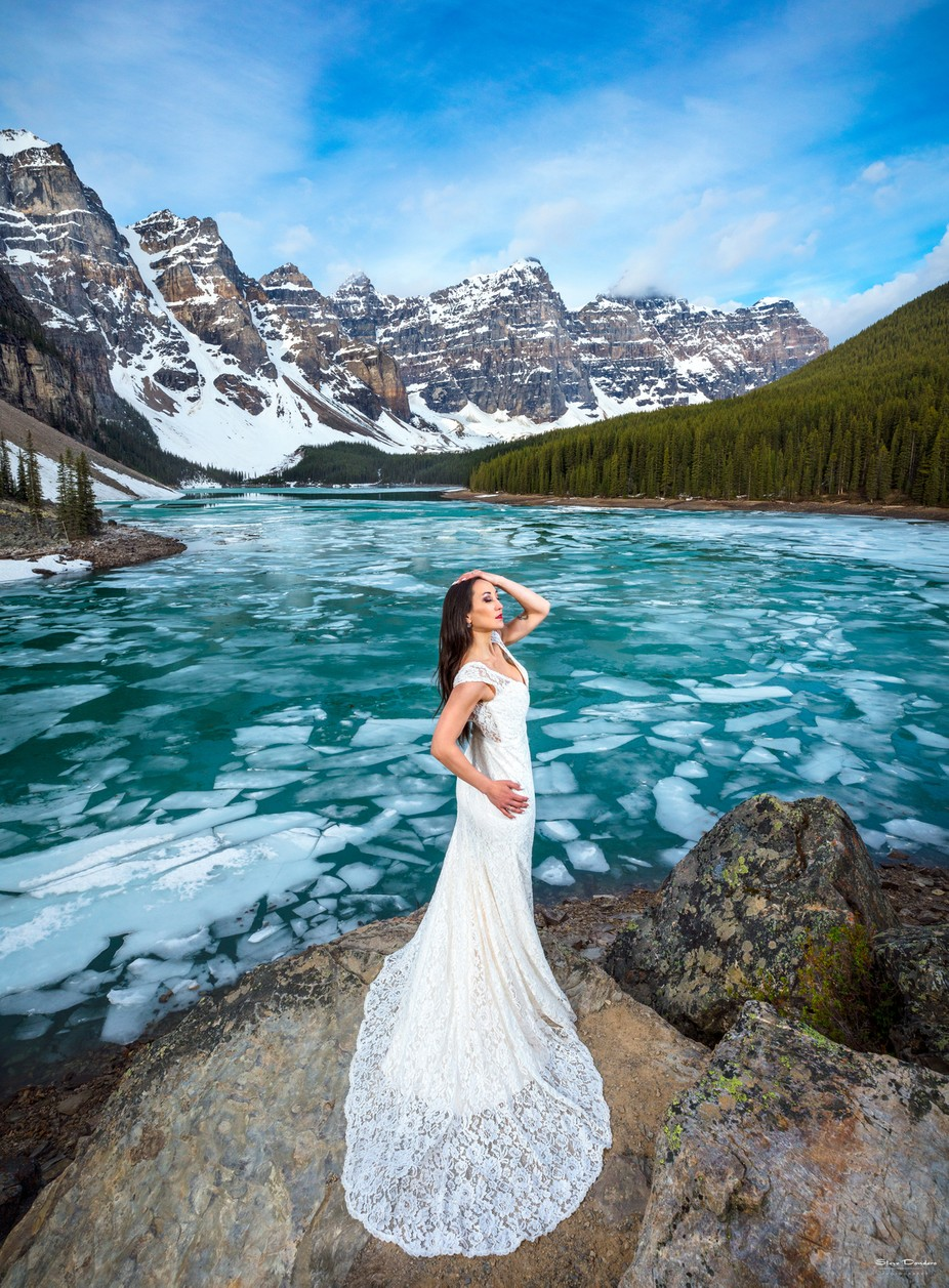 The Bride of Moraine Lake by sdondero - Weddings And Fashion Photo Contest