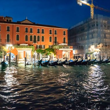 Surrealistic photos from a magical night voyage down the Grand Canal in Venice, Italy.