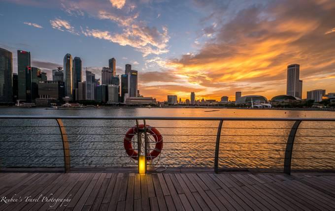 Golden Hour, Singapore by reubenpixz - City Sunsets Photo Contest