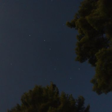 Looked like the face in the tree top was about to have a drink out of the big dipper! Nikon D3400 18-55 lens