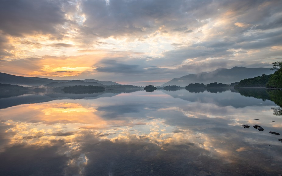The view over Derwent Water in the Lake District at sunset.  See more at www.jaybirmingham.com
