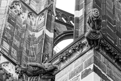 Two Gargolyes at Cologne Cathedral