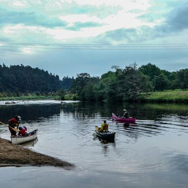 Family Fun on the River Spey at Grantown on Spey