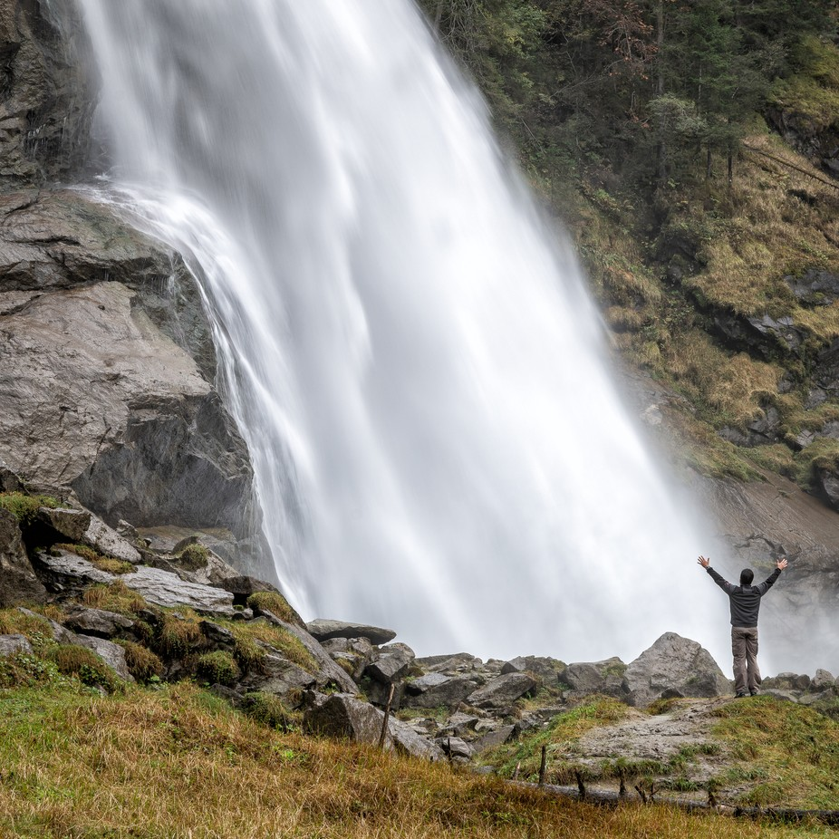 Gigantic Krimmler Waterfall by guenther710 - People And Waterfalls Photo Contest