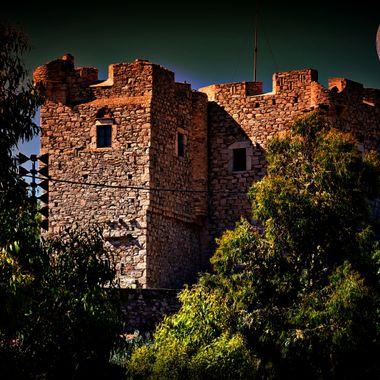 Castle at Pithagorio,samos, greece.