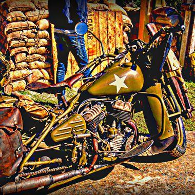 An old military motor bike.