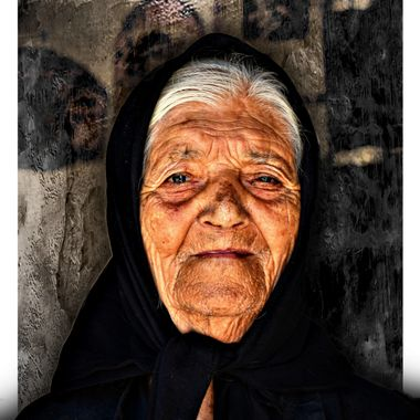An elderly Greek lady from Samos.