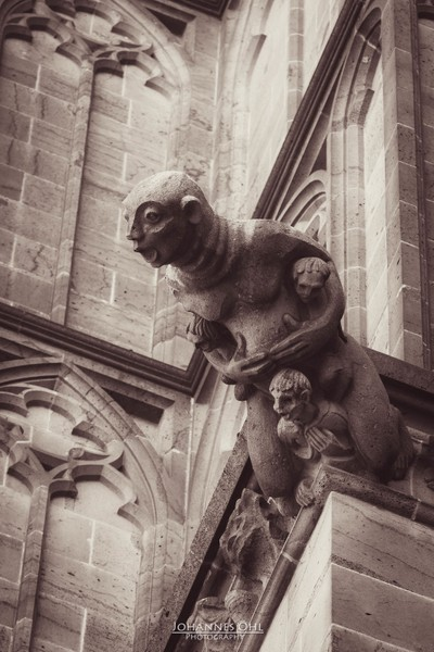 Man as gargoyle