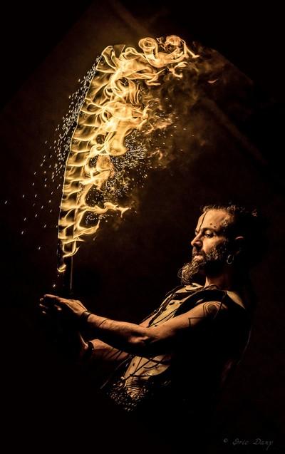 Sculpted flames of a firesword