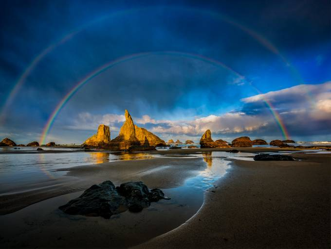 Double Rainbow at Wizard Hat by dakoch - The Natural Planet Photo Contest