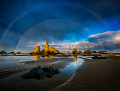 Double Rainbow at Wizard Hat