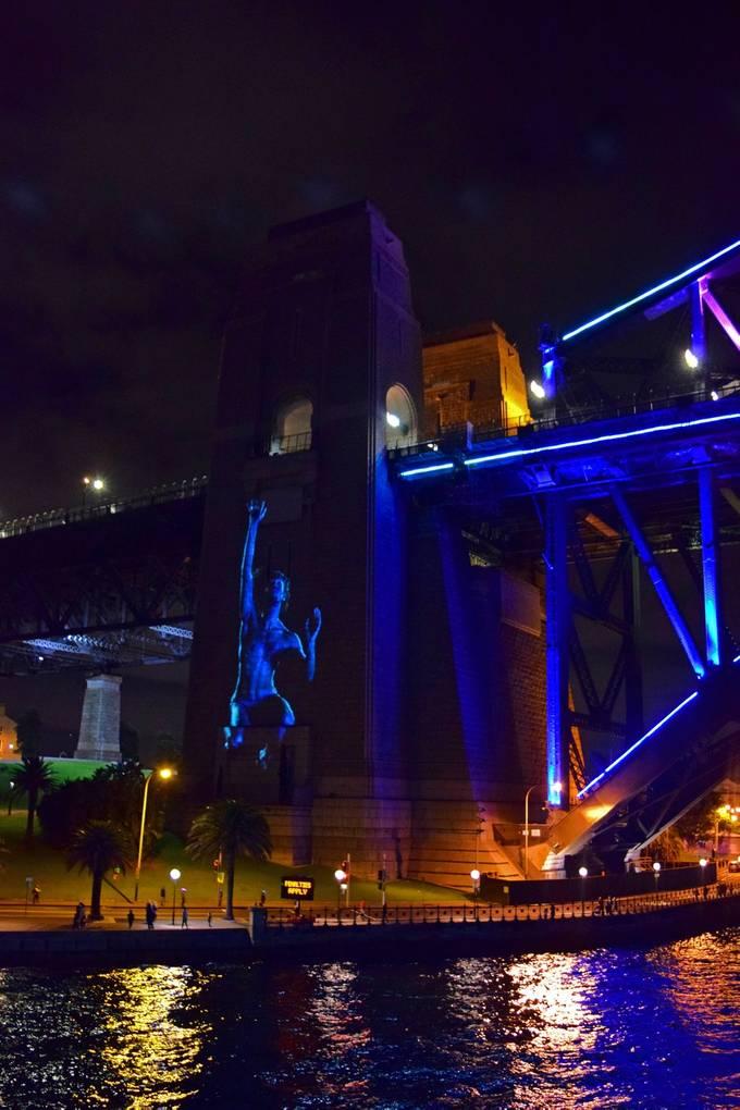 Southern Pylon Sydney Harbour Bridge  - Vivid 2018