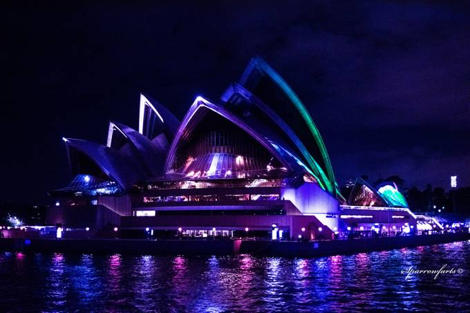 Sydney Opera House during Vivid 2108