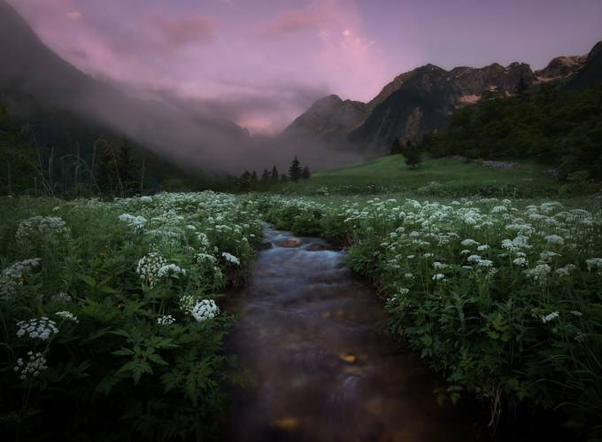 Places To Photograph In Slovenia: Sunset at Lepena valley, Slovenia
