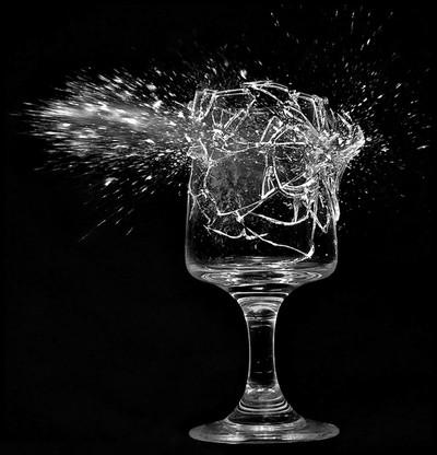 Shot glass.