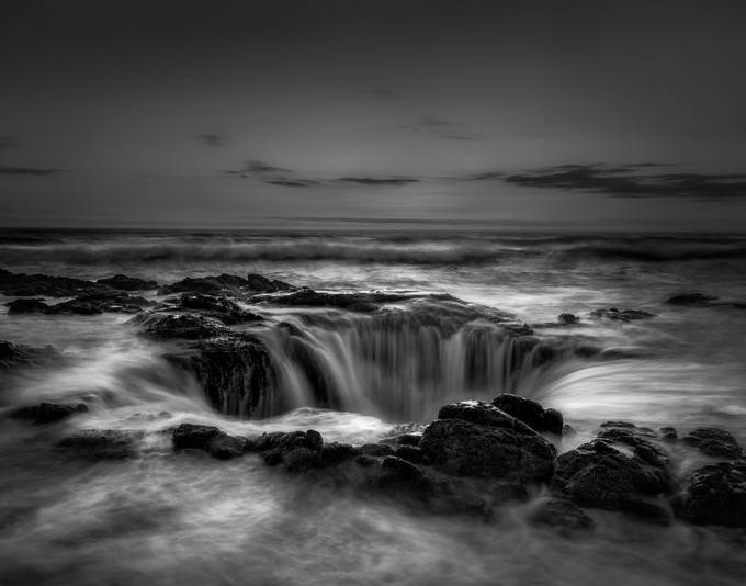 Thor's Well  by sudhanvakashyap - Our World In Black And White Photo Contest