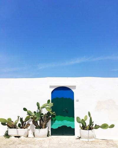 The door to italian heaven is in Puglia Italia.
