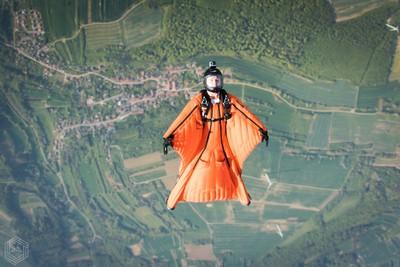 Backflying portrait