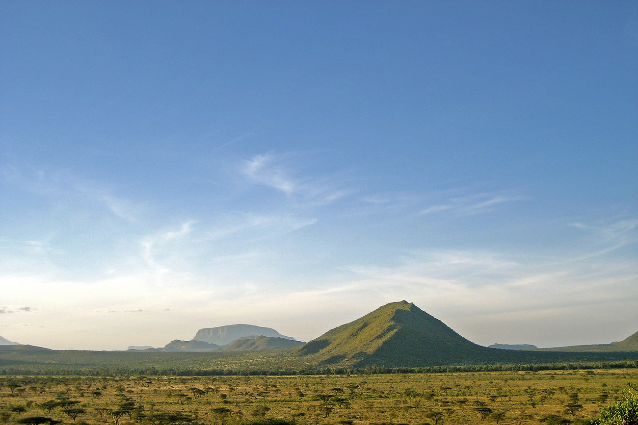 Rocky outcrop from the arid plains of north-central Kenya.