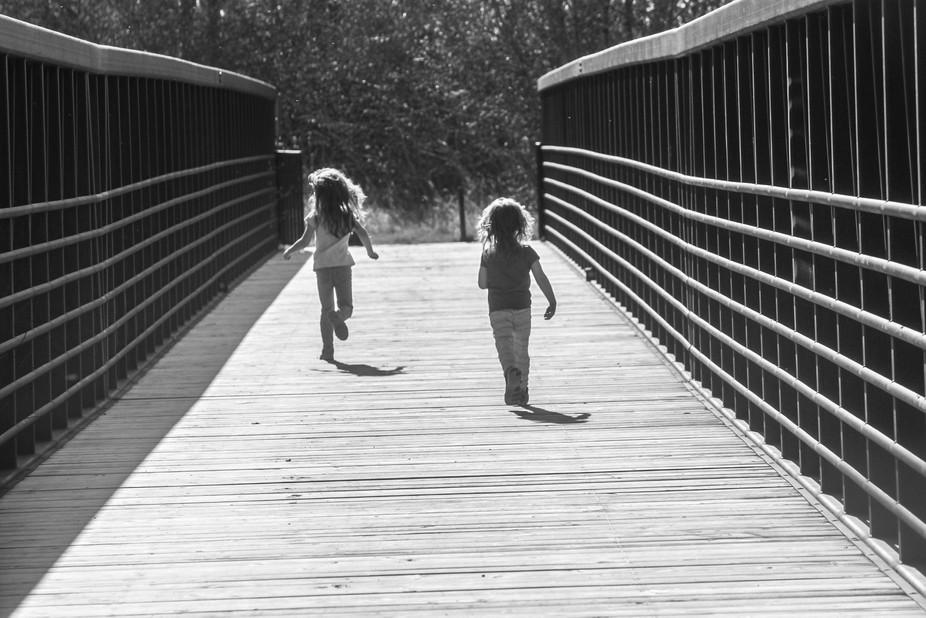 Action photos of children enjoying life