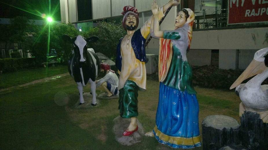Statue of punjabi Bhangra Dance from India