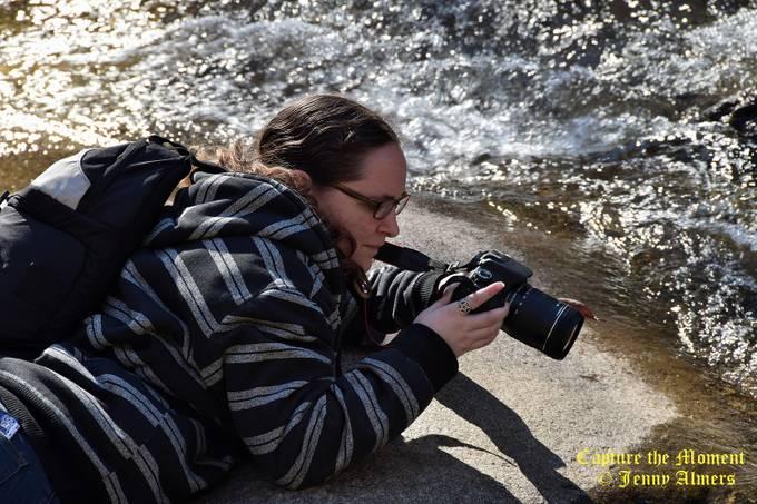 Granddaughter at the Falls