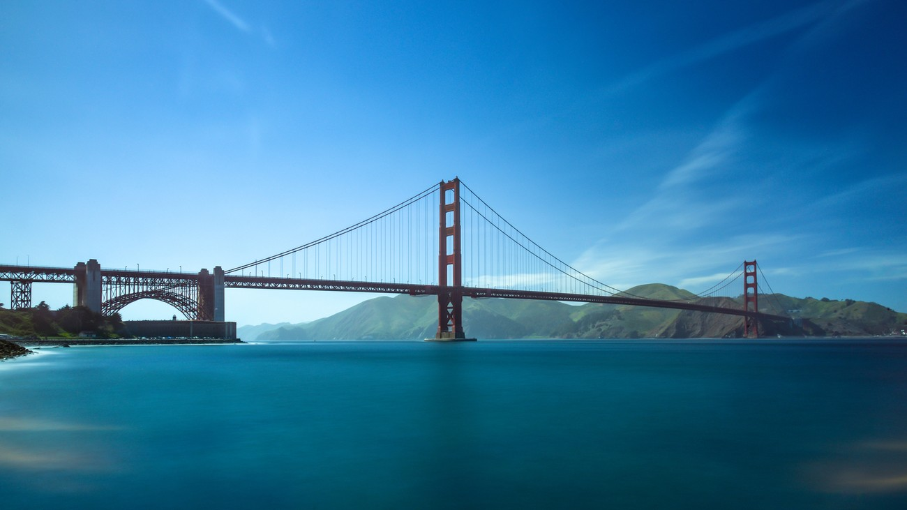 Golden Gate Bridge in San Francisco -long exposure