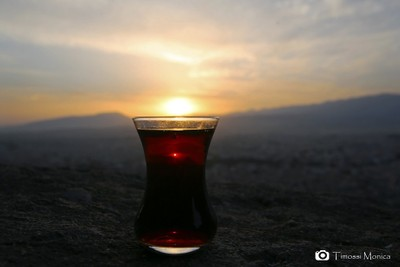 Tea in the sunset