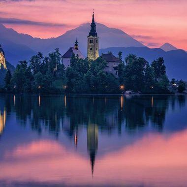 Dawn - Bled, Slovenia
