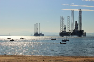 Oil rig parking at Cromarty
