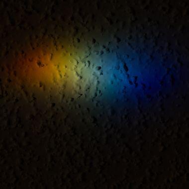 Prism spectrum on textured ceiling