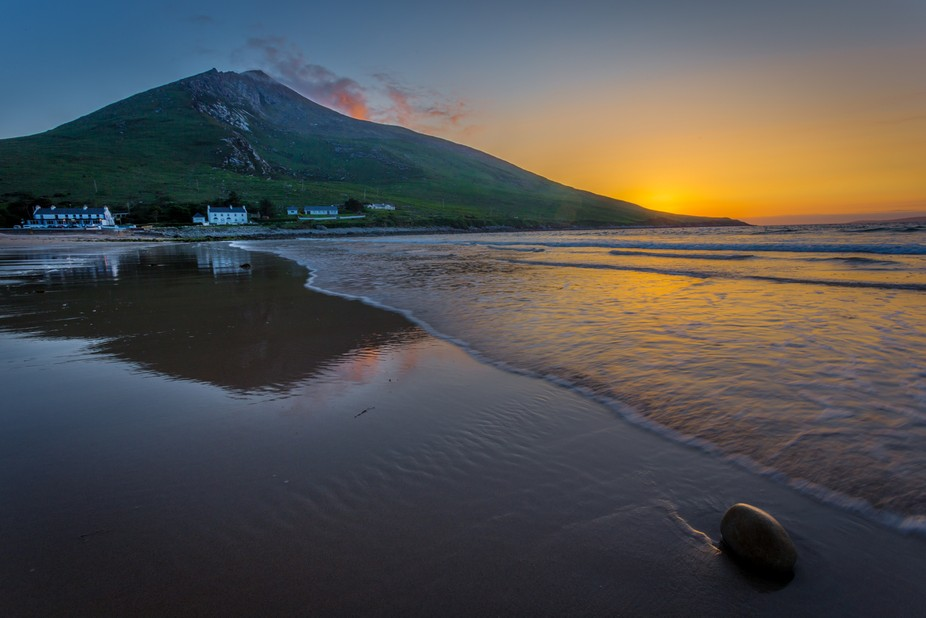 "Naoise Kelly Photography is at Dugort Beach. 3 mins · Achill ·  ""Atlantic Swells"" Drove a 4 hour round trip on a portion of the Wild Atlantic Way from Galway to Co. Mayo this evening, where I went as far as Achill Island, to capture this beautiful mountain along the rugged Atlantic coastline This beach is also known as Golden Strand Beach Slieve Mor, in the village of Dugort, Achill Island, Co. Mayo, along the Wild Atlantic Way, at Sunset this evening"