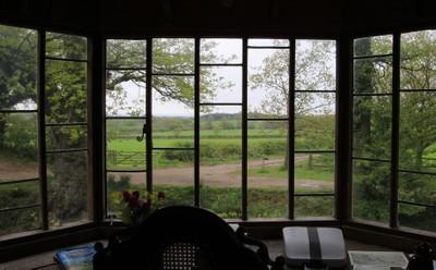 View through window, Sissinghurst Castle, Kent, England