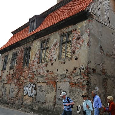 Purportedly the oldest house in Europe! Klaipeda, Lithuania.