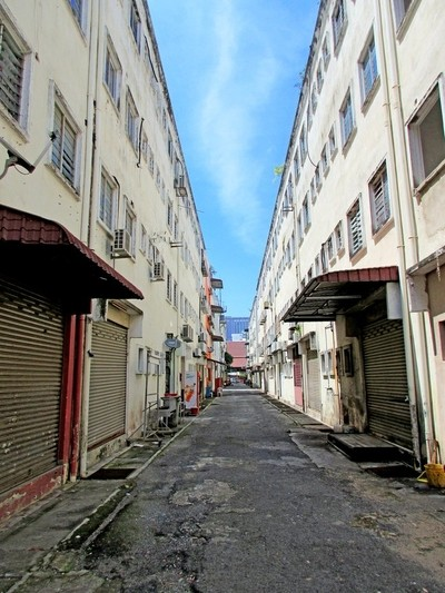 Backlane of Mahkota Plaza, Malacca