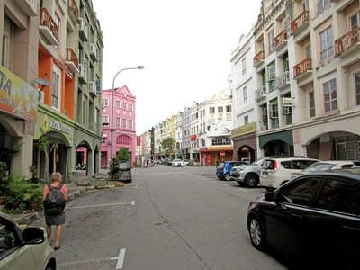 Street of Mahkota Plaza, Malacca