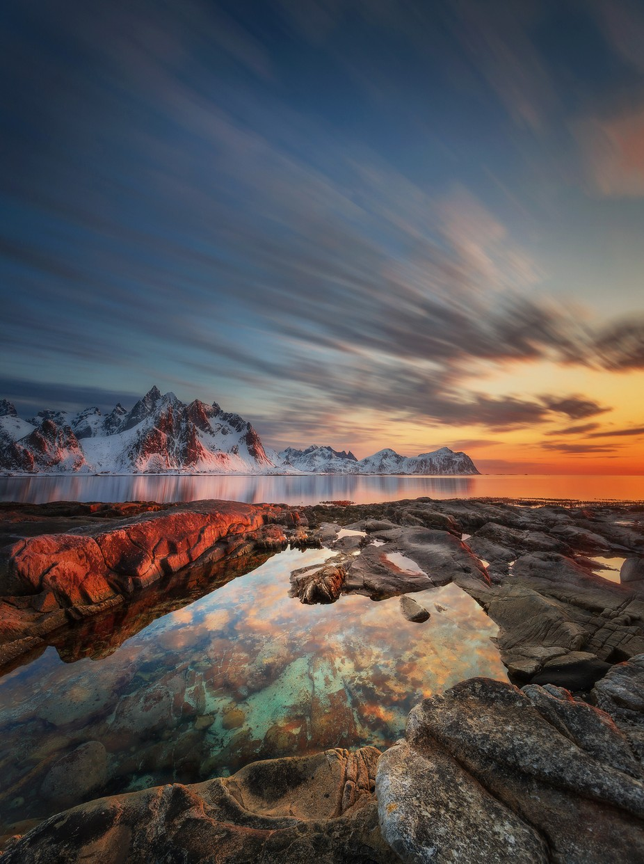 Lofoten sunset by PatiAnna - The Moving Clouds Photo Contest
