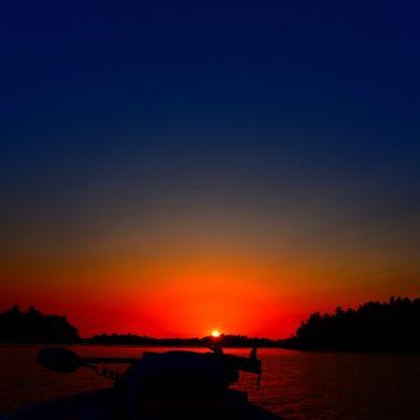 Rainy Lake Sunset Country!