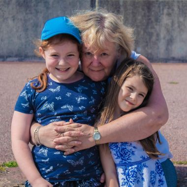 A snapshot of a loving Nan and her 2 grand daughters