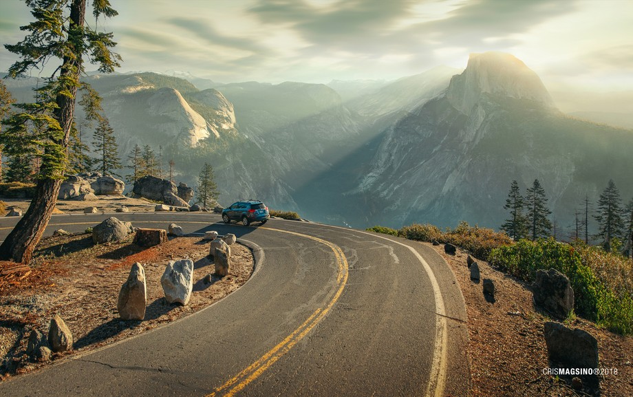 Sometimes you just got to slow down and enjoy the view ???? Scenic route going up to Glacier Point, Yosemite National Park.