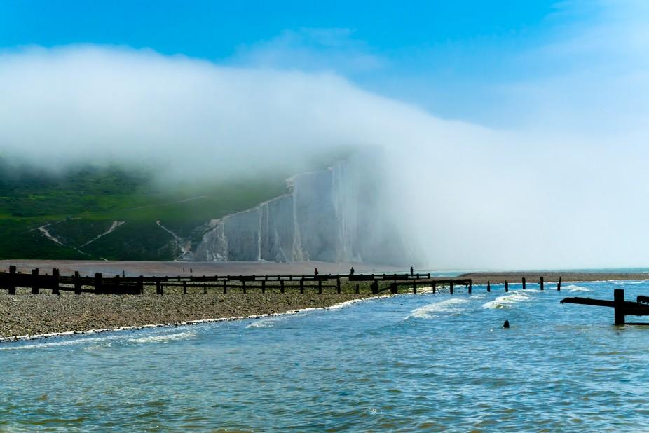Fog on Cliff