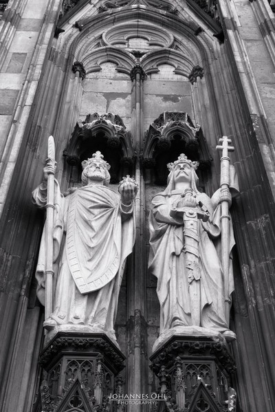 Holy Roman Emperor Henry II and Saint King Stephen I of Hungary