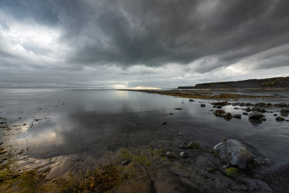 Visiting Kimmeridge Bay in the hope of a decent sunset, my hopes were dashed by a lot of heavy cl...